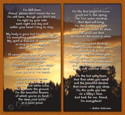 friend poems  read   funeral funeral program
