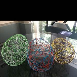 Fun, Craft, Made, Out, Of, Elmer, U0026, 39, S, Glue, String, And, Balloons, You, Can, Make, Easter, Eggs, Christmas