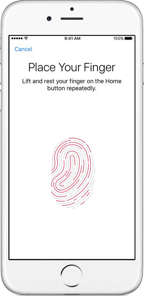 use touch id on iphone and apple support