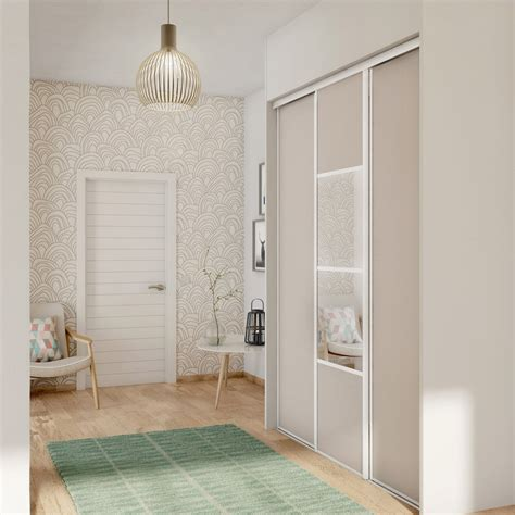 porte de placard coulissante s 233 same spaceo l 67 x h 250 cm leroy merlin