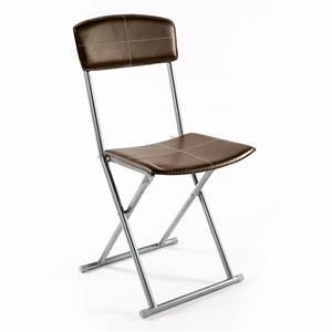 chaise pliante boyeros marron With meuble salle À manger avec chaise simili cuir