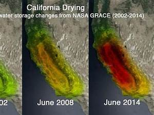 NASA images show California's drought deepening