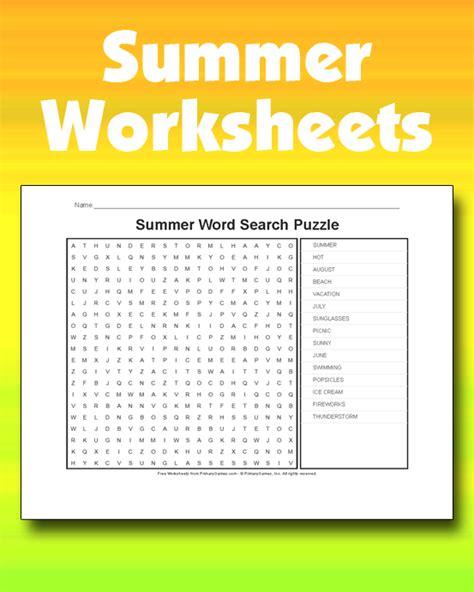 summer worksheets   games  primarygames