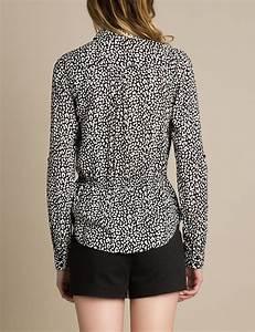 Chemise Noir Et Blanc : chemise imprim l opard noir et blanc femme jennyfer ~ Nature-et-papiers.com Idées de Décoration