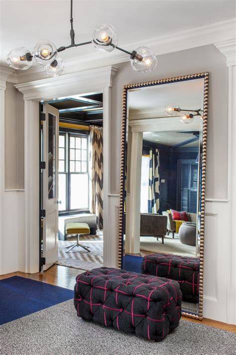 floor mirror in entryway photo page hgtv