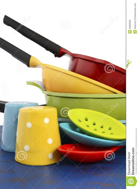 bright colored kitchen utensils modern cooking colorful kitchen utensils stock image 4905