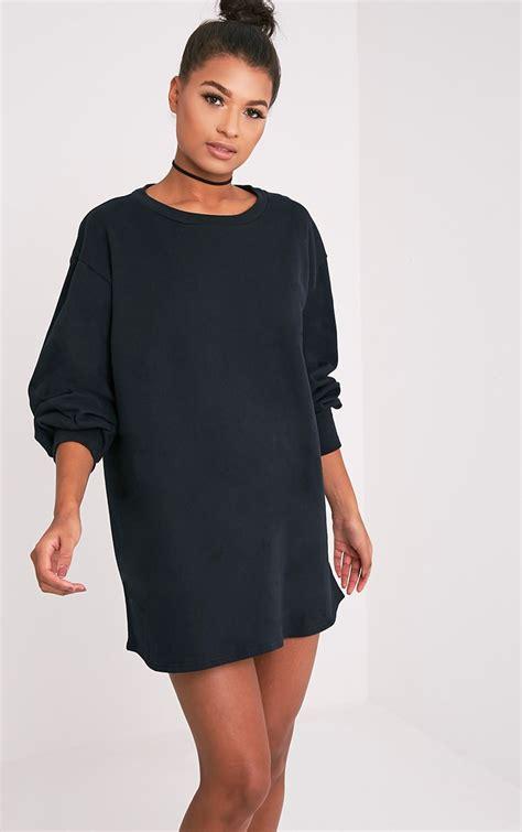 sianna black oversized sweater dress dresslover uk
