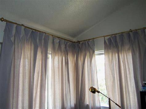 corner curtain rods ideal corner curtain rod window the homy design