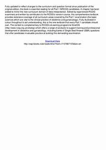 Mrcog Part One Your Essential Revision Guide Pdf