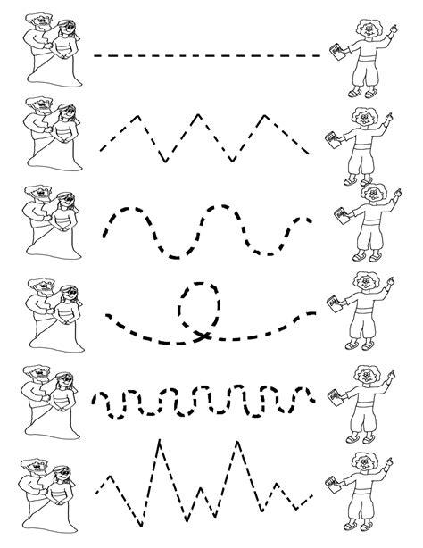 work pages for kindergarten tracing activities for preschool activity shelter