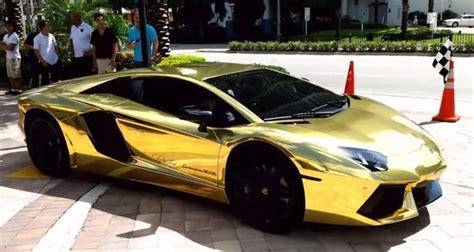 gold lamborghini  car