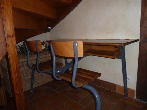 bureau ancien ecolier bureau écolier ancien 2 places