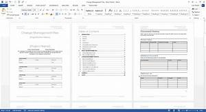 change management plan download ms word excel templates With change management process document template