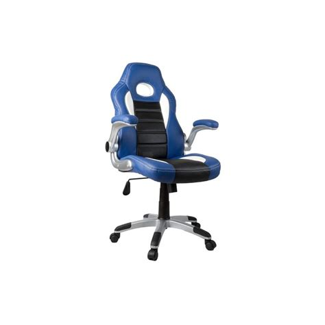 fauteuil de bureau sport racing bleu et noir