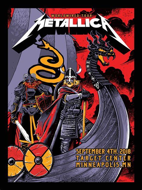 nights concert metallica   cool poster paying