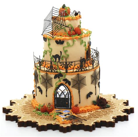 Halloween Cake House Kit. Now Comes with Wallpaper