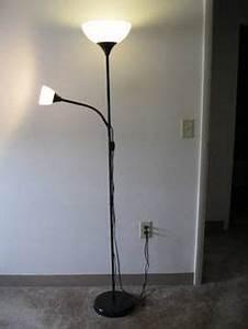 Not floor uplighter reading lamp white ikea source for Ikea uplighter floor light lamp modern black white