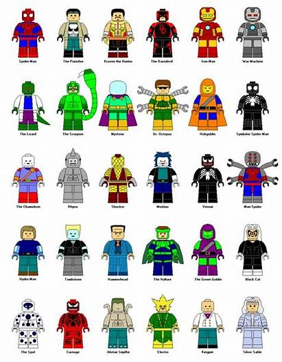 Lego Marvel Clipart Spiderman Character Characters Spider