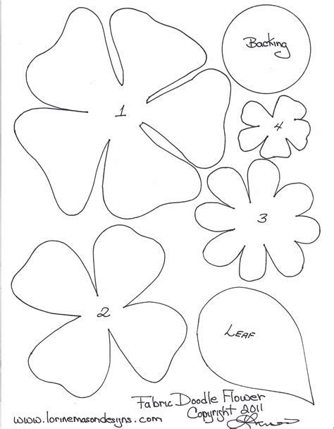 paper flower template pdf free printable paper flower templates scissors paper and sewing decorative edge if desired