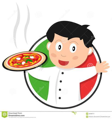 logo chef de cuisine logo de chef de pizza illustration de vecteur image du
