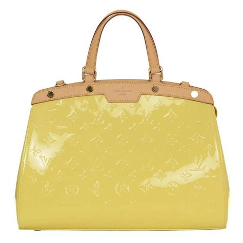 louis vuitton yellow monogram vernis brea mm bag ghw
