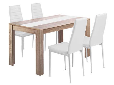 ensemble table et 4 chaises de cuisisne spring coloris