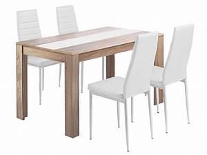 Ensemble Table Et Chaise Cuisine : ensemble table et 4 chaises de cuisisne spring coloris blanc vente de ensemble table et chaise ~ Melissatoandfro.com Idées de Décoration
