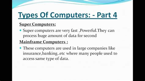 Computer Basic Tutorial Part 4 , Types Of Computer