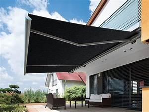 Aussenliegender sonnenschutz hagenlocher raumgestaltung for Markise balkon mit tapete schwarz grau