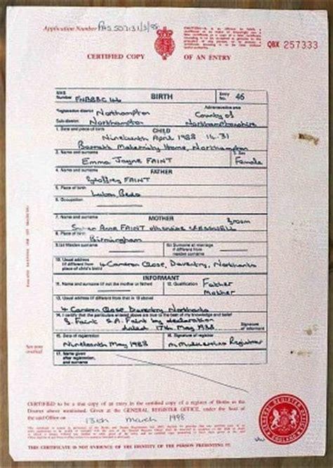 birth certificate uk certificates templates