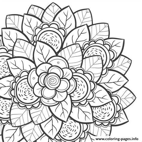 mandala flower  teens coloring pages printable