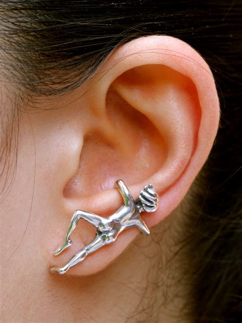 ear man ear cuff sterling silver marty magic store