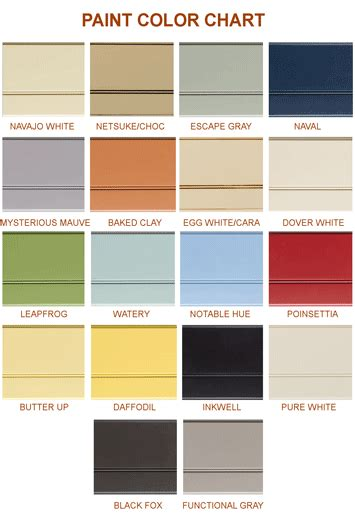 exterior paint color chart great home exterior color