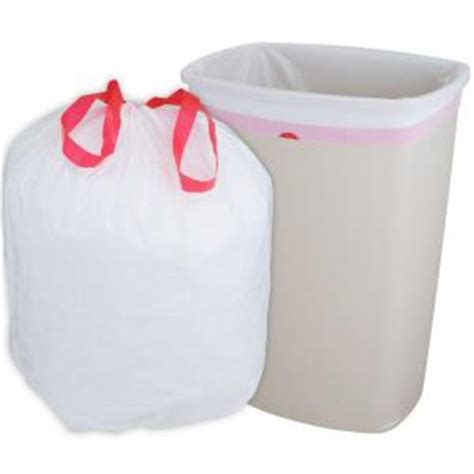 Home Depot Kitchen Garbage Bags by Husky 13 Gal Drawstring Kitchen Trash Bags 300 Count