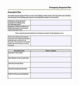 sample emergency response plan template 9 free With emergency plan template for businesses