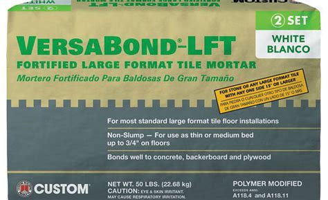Versabond Thinset For Glass Tile by Custom Building Products Mortar Versabond Lft For