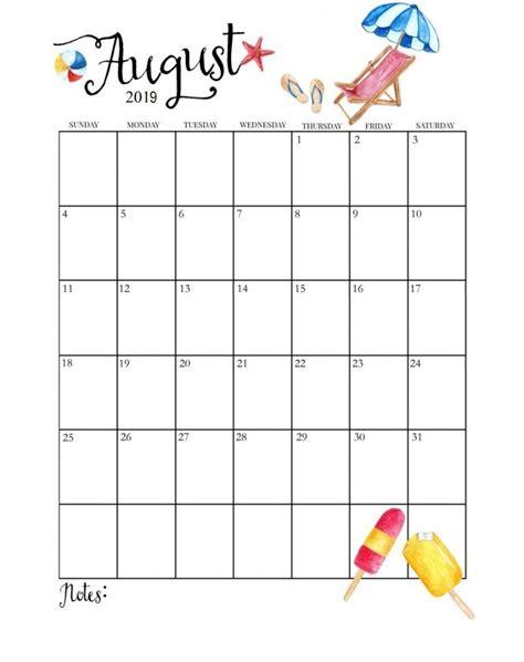 cute august calendar calendar calendar printable