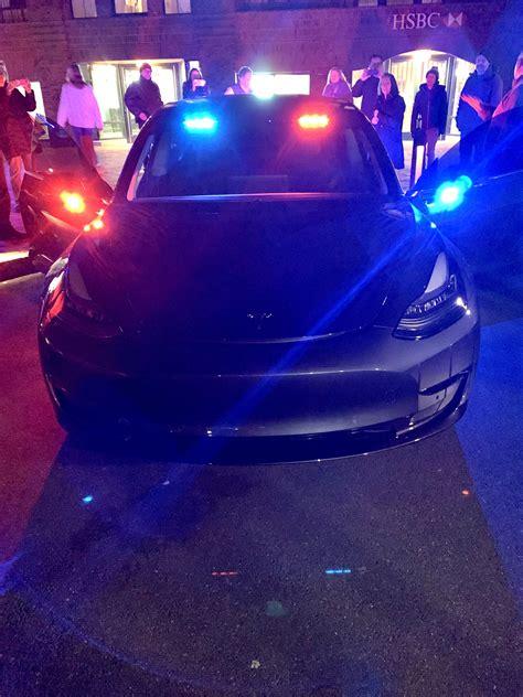 Download Tesla 3 Police Car PNG