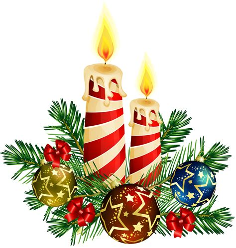 transparent christmas candles art cliparts co