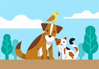 Friends Animal Clipart Vector Dog Cat Clip
