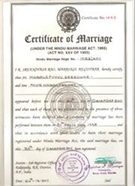 marriage certificate  indore marriage registration