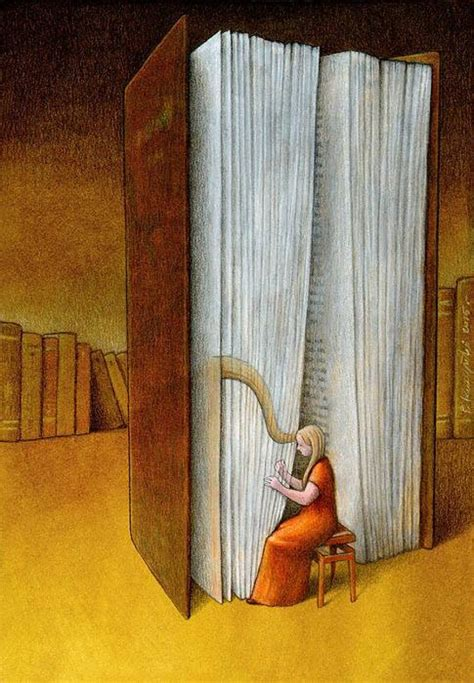 pawel kuczynski harp books illustrations kuczyski pawe illustration canvas print floating collection artist notes para pou lectura frame polish reading