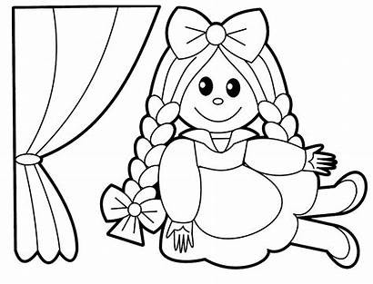 Coloring Pages Doll Cartoon Toys Babies Printables