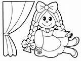 Coloring Pages Doll Cartoon Toys Babies Printables Popular sketch template