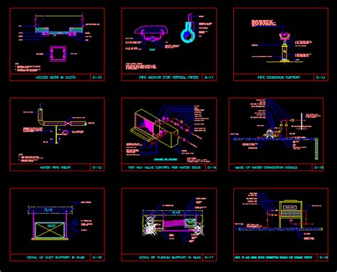 Hvac Drawing In Autocad by H V A C Standard Installation Detail Dwg Detail For