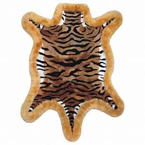 Tapis peau de mouton dessin tigre for Tapis en peau de tigre