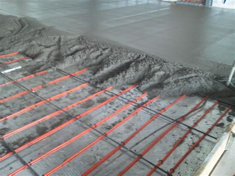 Radiant Floor Heating Mike39s Heating Skim Coat Concrete Floor
