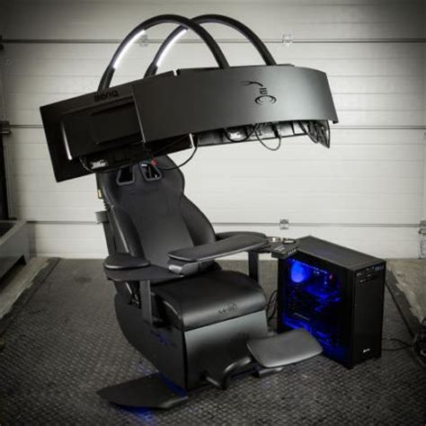 gamer sessel pc mwe lab emperor chair 1510 einstellbarer sessel mit soundsystem f 252 r drei monitore f 252 r 5 000