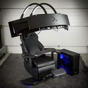 Gamer Stuhl Mit Boxen : mwe lab emperor chair 1510 einstellbarer sessel mit soundsystem f r drei monitore f r euro ~ Frokenaadalensverden.com Haus und Dekorationen