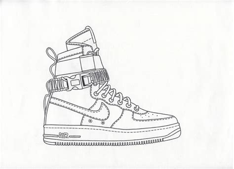 Coloring Nike Air 1 by Air 1 Drawing At Paintingvalley Explore